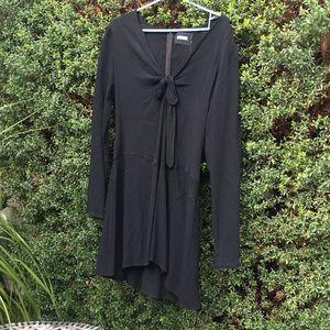 Reformation Black Rayon Dress